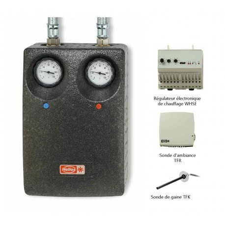 Régulation pour batterie eau chaude avec pompe de circulation
