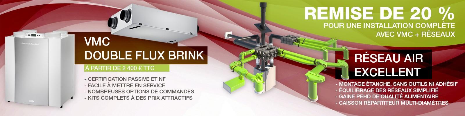 VMC double flux et réseaux PEHD BRINK