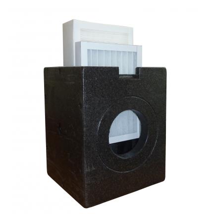 Caisson filtre étanche IsoBox - G4/F7/H10/Charbon