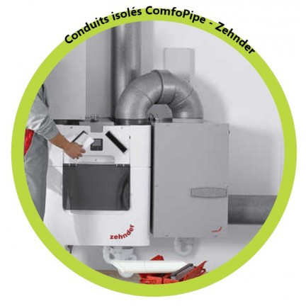 Kit primaire ComfoAir Q350 + comfofond Zehnder