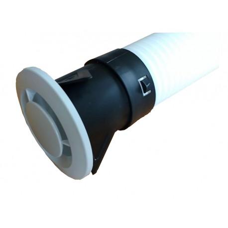 Plénum droit 1xDN75 inclus bouche extraction DN80 - Universel