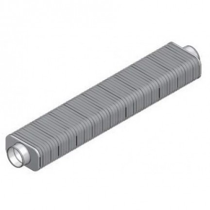 Silencieux flexible avec embouts rigides à joints