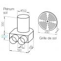 Kit plénum sol DN 160 + grille - Flexpipe