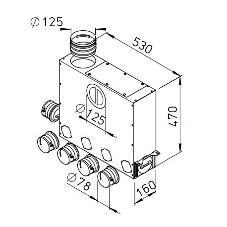 Caisson répartiteur 5 x DN75 - Flexpipe