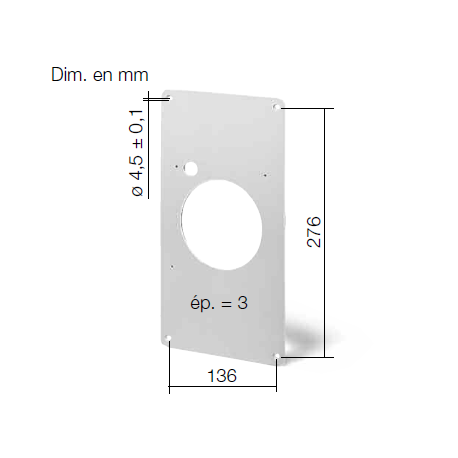 Cache d'adaptation pour ventilateur M1